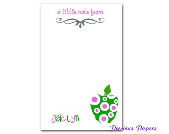 Personalized Teacher note pads Personalized teacher gift Personalized teacher green apple note pad apple note pad