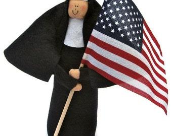 Nun doll Catholic gift -Sister Liberty Bell, the patriotic American sister