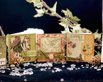 Handmade Fairy Note Cards 3x3
