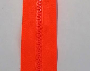 Orange neon zipper 30cm