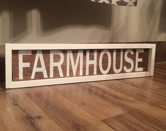 Farmhouse Sign. Fixer Upper. Rustic Decor