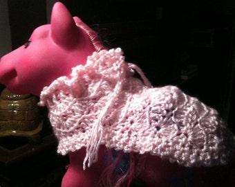 Toy pony, blanket, crochet, pink, toy