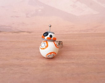 Star Wars, The Force Awakens, BB-8 droid Inspired ring, BB8 ring