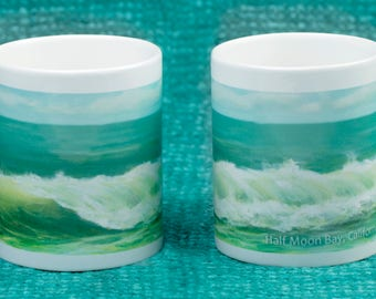Green Wave Mug - Half Moon Bay