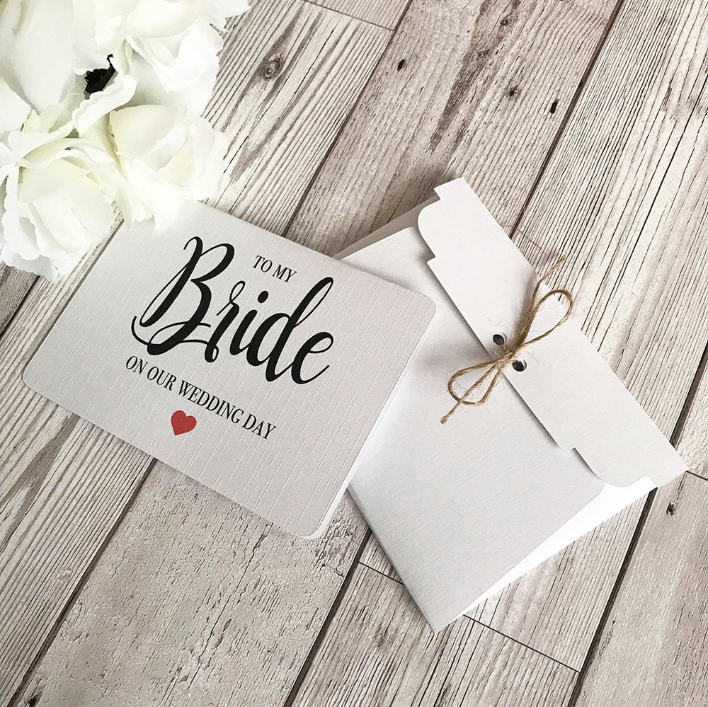 To My Bride Card Wedding Card Wife To Be Card