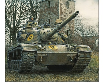 M60A3 tank signed and numbered and customizable print by Jody Harmon