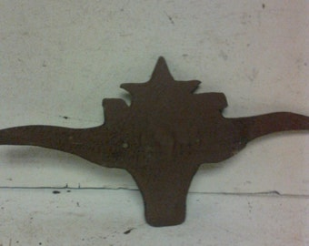 Cast iron Texas Longhorn