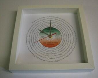 Bette Midler - Wind Beneath My Wings - Framed Spiral Lyrics Wall Clock Gift