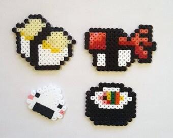 Sushi set beads