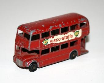 """Vintage 1960's MATCHBOX / LESNEY #5 Routemaster 'London Double Decker' 2 1/2"""" Long Diecast Bus"""