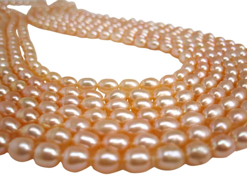 pearls gillian hillman gold design rose with peach