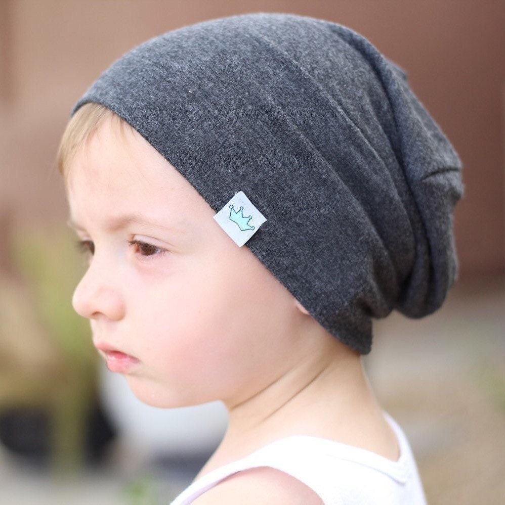 Gray slouchy beanie / Slouchy baby beanie boy / Hipster baby