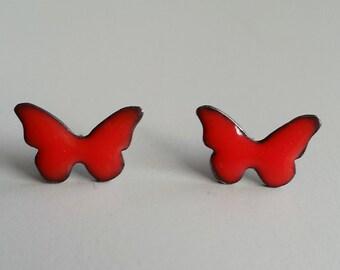 Fire Engine Red Butterflies