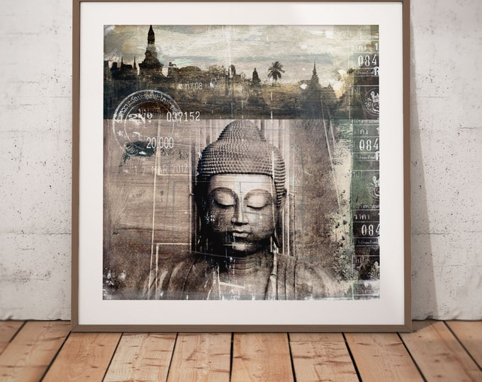Buddha II by Sven Pfrommer - Artwork is ready to hang with a solid wooden frame