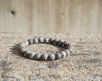 Grey tera jasper - Beaded Bracelet