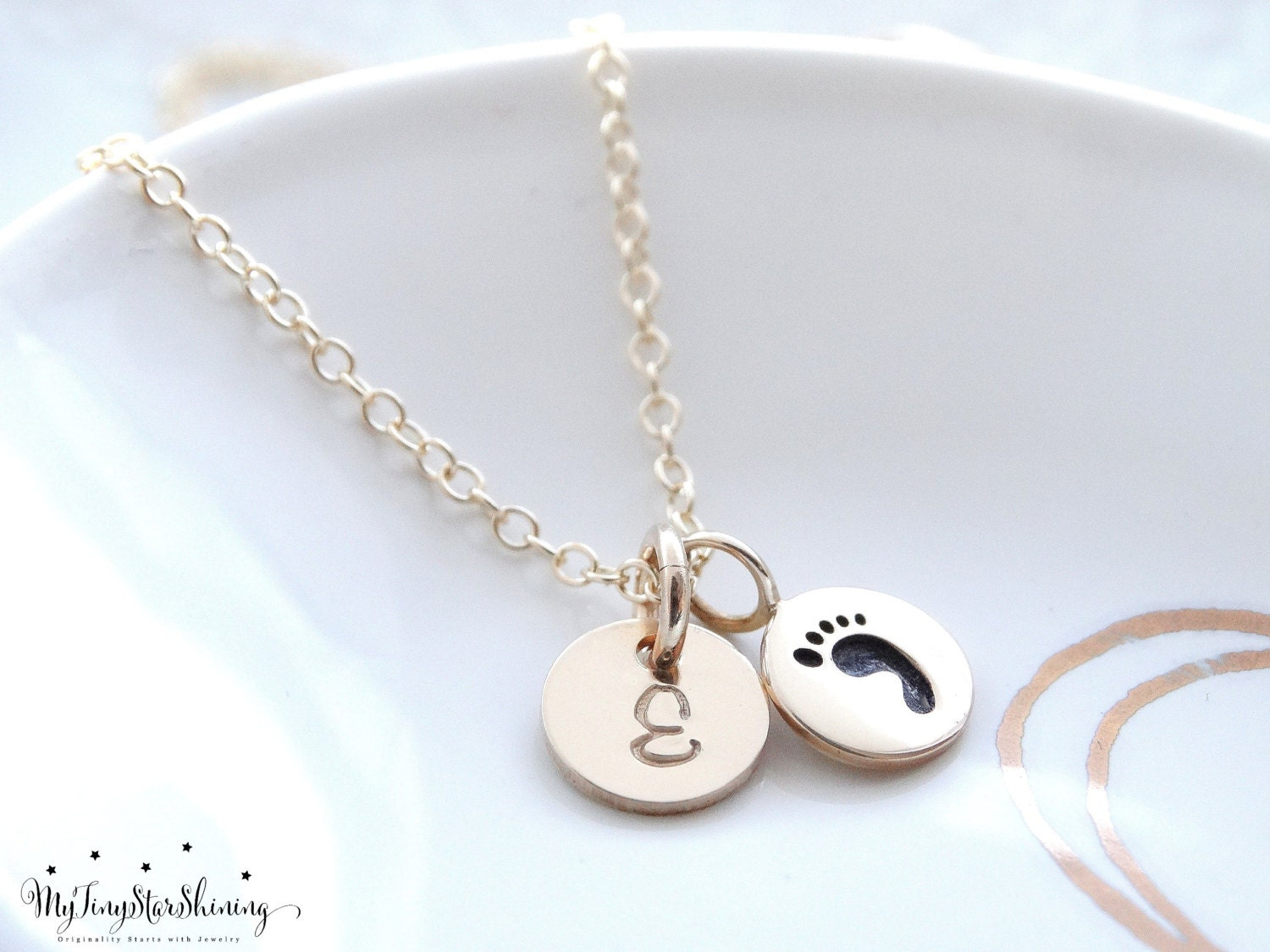 baby foot print il new fullxfull jewelry obqa gold mom charm necklace initial listing jewellery gift mothers footprint