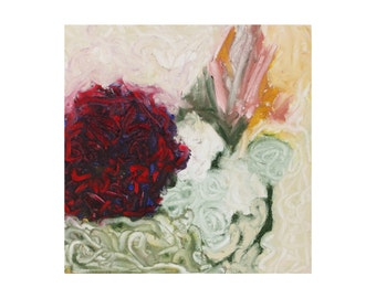 impressionist painting - spring art - original oil painting - abstract impressionist wall art - floral painting