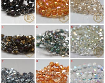 One Strand (68 Pieces) Chinese Crystal / Glass Crystal / Round / Near Round / Faceted Round 8mm (G50)