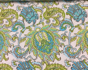 Rowan fabrics soul blossoms - dancing in limes by the Half Metre