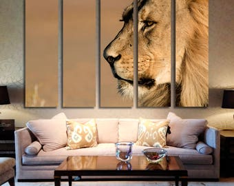 Lion Wall Art Lion Canvas Print Lion Large Wall Decor Lion Canvas Art Lion  Painting Lion