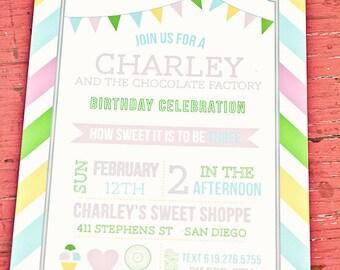 Printable Sweet Shoppe Party Invitation