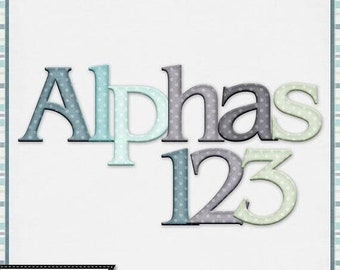 On Sale 50% Be Still 12x12 Pattern Alphabets, Digital Scrapbooking Kit