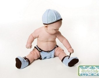 3 Piece Baby Set Crochet Pattern PDF 230