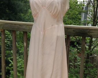 Vintage Pink Lacy Slip AS-IS