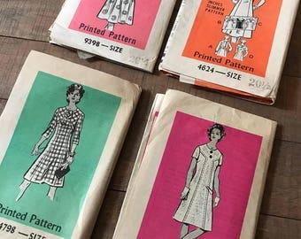 Vintage Sewing Patterns, Set of Four, SN03