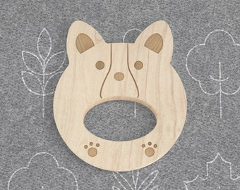 Corgi Natural Wooden Teether