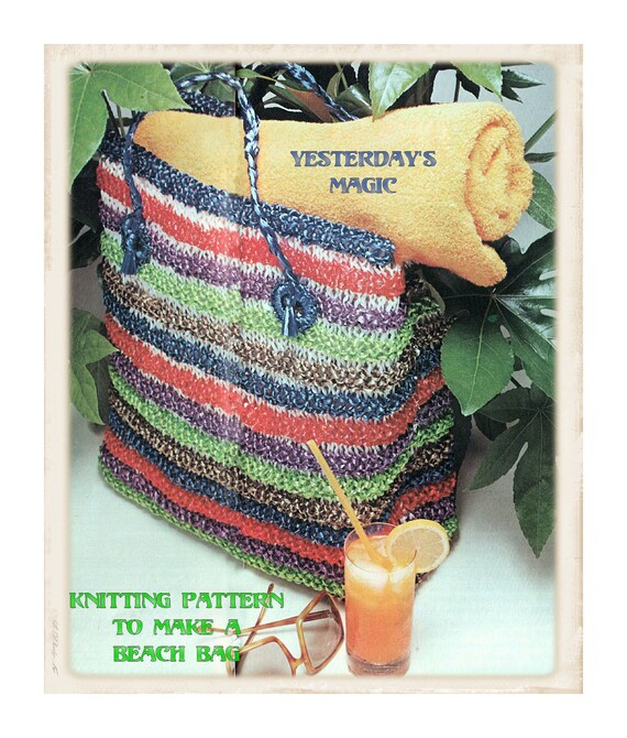 Instant Download PDF Knitting Pattern to make a Raffia String Ribbon ...