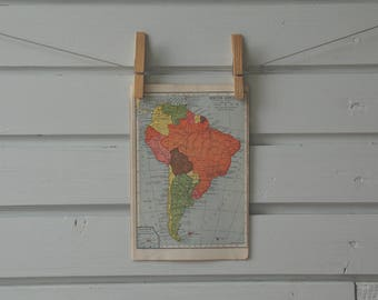 1932 Vintage South America Map