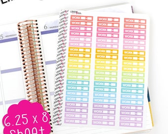 LS192 Spring Work Stickers.  Set of 60. Perfect for the Erin Condren Life Planner!!!