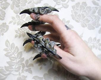 Hexe Königin Wirbel Fingerringe Klaue