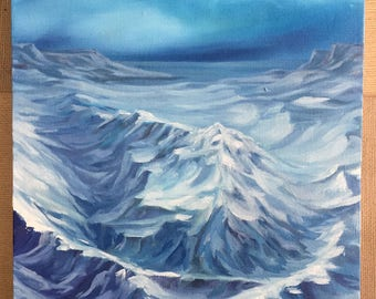 Ice Mountains original oil painting
