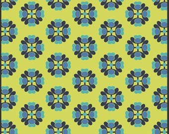 A la Mode in Lime from Modernology for Art Gallery Fabrics 100% Quilters Cotton Available in Yards, Half Yards and Fat Quarters