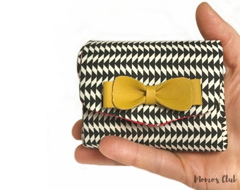 Coin Purse-Smart Wallet-coin Purse-Cash System-Portaspicci black and white