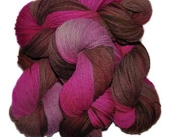 Hand dyed yarn - Columbia Wool yarn, Worsted weight, 170 yards - Hnoss