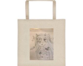 Unique drawing tote bag