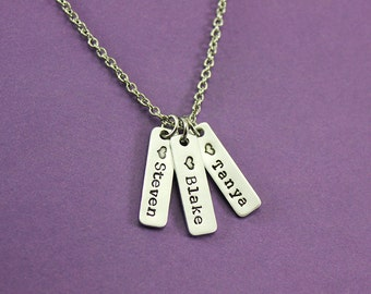 Personalized Tag Necklace - Mom Necklace - Kids Names - Grandma Necklace - Mom Gift - Choose How Many Tags - Mother Gift - Mother Jewelry