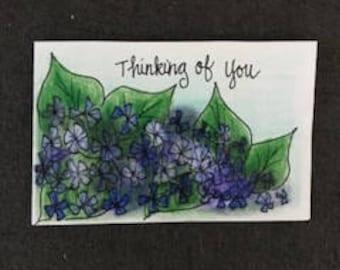 Hydrangea sympathy card