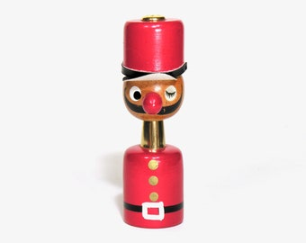 Salt and Pepper Little Soldier Shaker - Mid Century Salt / Pepper Collection - Vintage Kitchen Collectible - Christmas Table