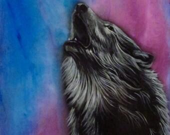 Wolf Print , wolf art, Frost-bite