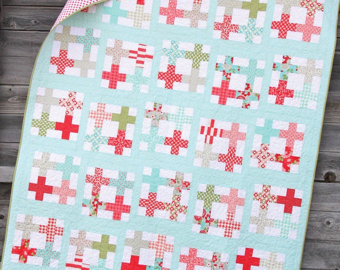 Tea Party Quilt Pattern #131 by Cluck Cluck Sew - Jelly Roll Friendly - Great Beginner Quilt (W750)