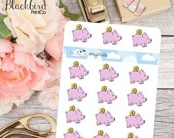 Piggy Bank - Hand Drawn Planner Stickers [FR0006]