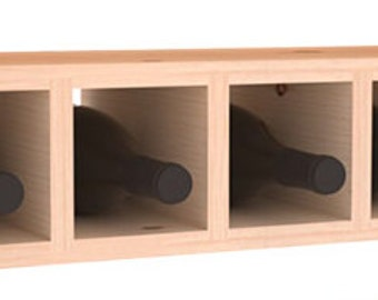 7 Bottle Wine Cubby Storage Rack in Pine. 13 Stains to Choose From!