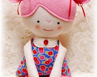 Soft Rag Doll PATTERN, PDF pattern, e pattern, Plush, Softie, Toy, Boy and Girl, Cloth Doll Pattern, Instant Download, Digital Download