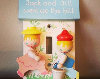 Jack and Jill light switch plate by Irmi