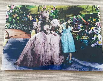 Hand tinted photo of film clip greeting card