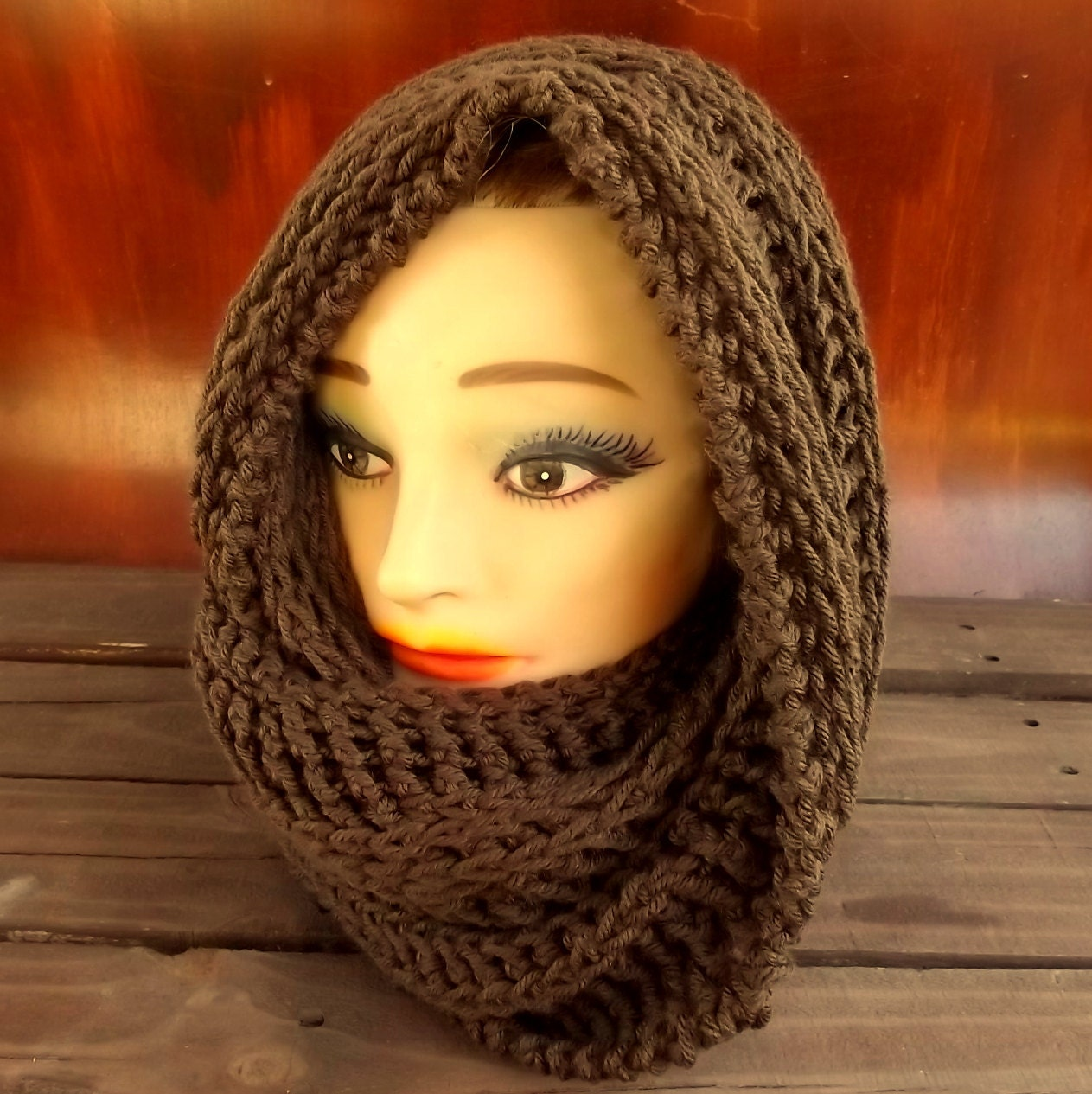 Hooded Cowl Pattern, Mobius Cowl Scarf Crochet Pattern Hooded Scarf ...
